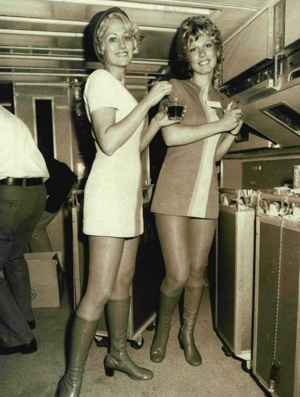 two flight attendants