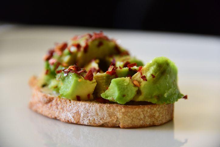avocado toast with chili flakes