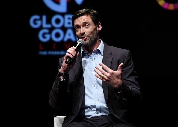 Hugh Jackman speaking at Global Goal Live