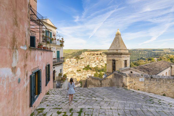 girl in Sicily