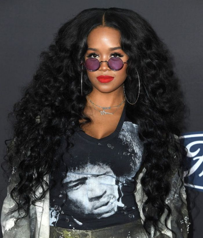 H.E.R. arrives at the 51st NAACP Image Awards on February 22, 2020 in Pasadena, California