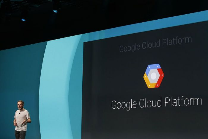 Urs Holzle, Senior Vice President for Technical Infrastructure at Google, speaks on the Google Cloud Platform during the Google I/O Developers Conference at Moscone Center