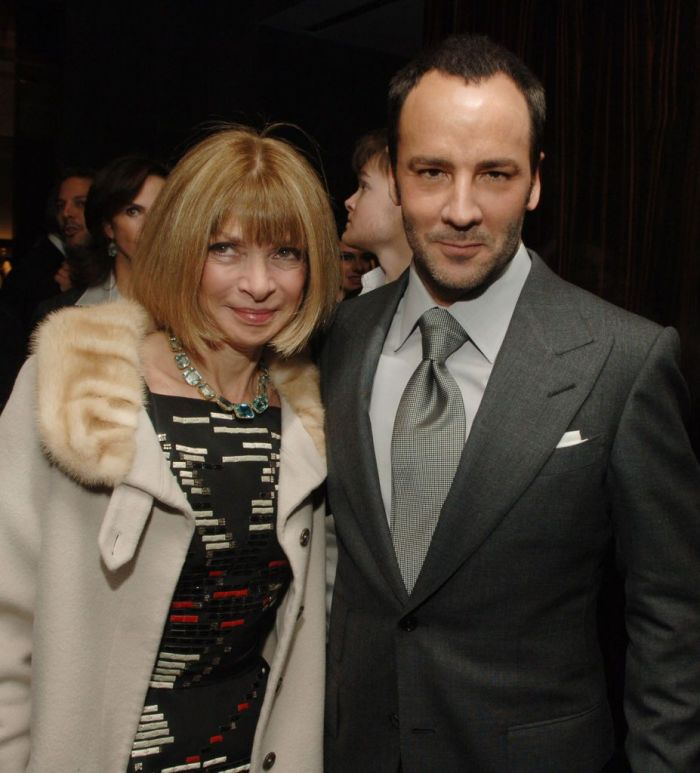 Anna Wintour and Tom Ford at the Menswear Launch and store opening
