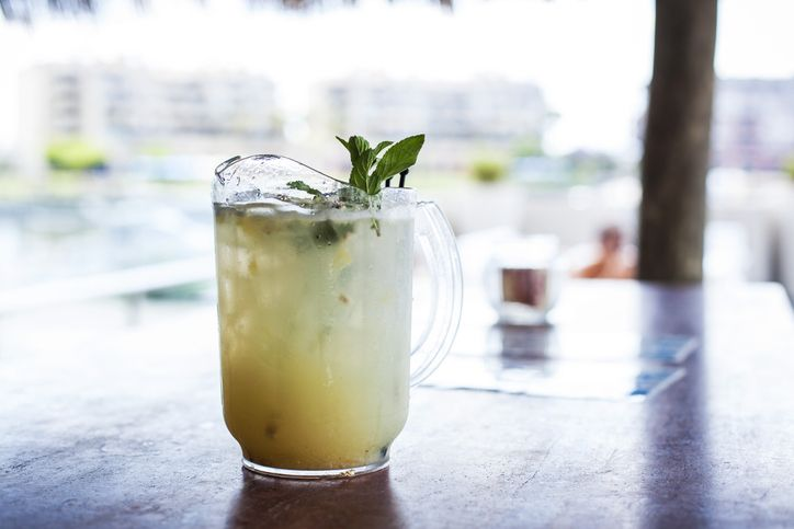 A pitcher of pisco sour