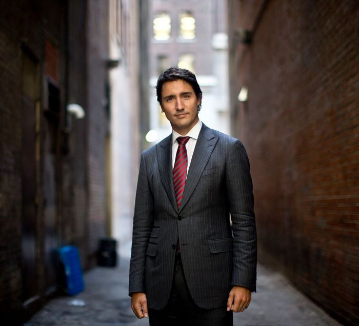 Justin Trudeau photographed in downtown Toronto following an interview regarding his memoir, 'Common Ground'.