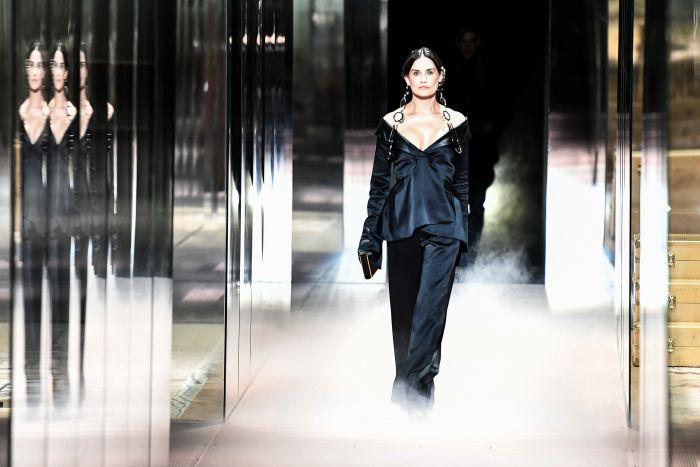 Demi Moore modeling for Fendi