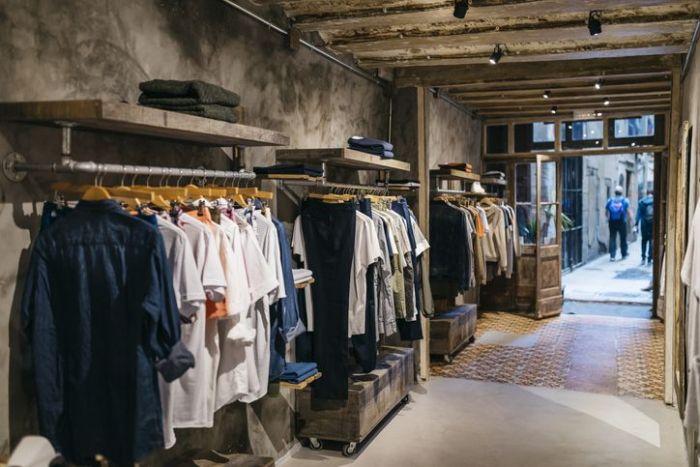 Interior of a modern menswear shop