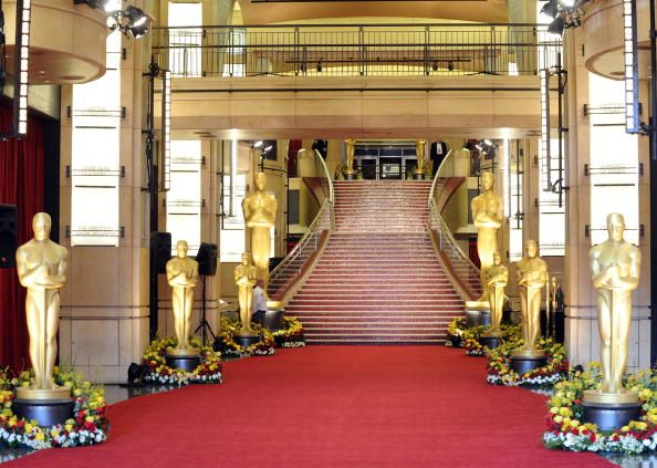 A general view of the red carpet before the start of arrivals at the 82nd Annual Academy Awards