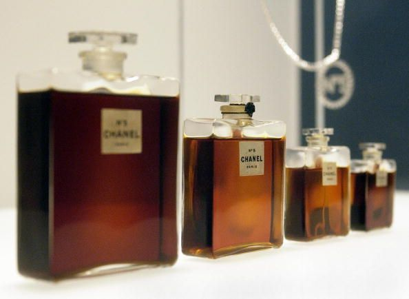Four bottles of Chanel No. 5 perfume
